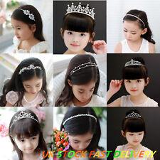 Girls Children Kids Headband Bridal Tiara Crystal Diamante Rhinestone Party Prom