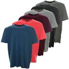 Kitaro T Shirt Uni Herren Kurzarm Rundhals Baumwolle Plusgröße