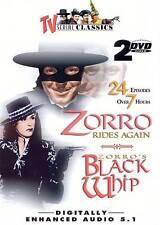 TV Serial Classics - Zorro Rides Again/ Zorros Black Whip (DVD, 2005, 2-Disc Se…