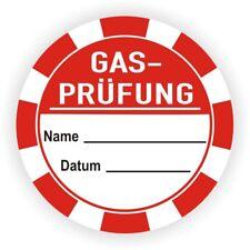 Prüfplaketten Prüfetiketten Gas Prüfung Wartungsplaketten Nächste Gasprüfung 3cm