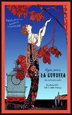 Cuba Travel Poster.Agua pura LA COTORRA.San Rafael. Decor. Art Nouveau. 07i