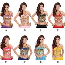 Belly Dance top Costume Sexy Bra top sopra  haut with Sequins Beads colors Bells