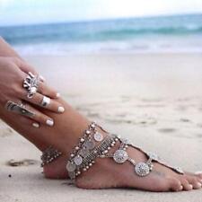 Antique Sandals Coin Anklet Bracelet Bohemian Barefoot