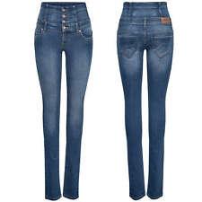ONLY Damen Jeans Hose onlCORAL CORSAGE SKINNY REA16989 blau highwaist denim NEU