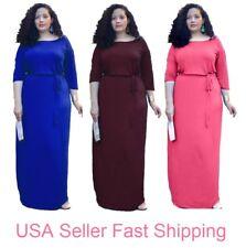 Women Plus Size Long Maxi evening Dress Oversized Bridesmaid Prom 0105