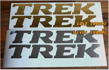 2 x TREK LOGO FRAME DECAL - 2 BICYCLE REPLACEMENT VINYL STICKERS