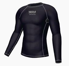 Hombre Compresiva Camiseta Manga Larga Negro Top Deportes Gimnasia Jersey