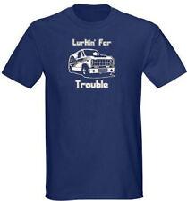 Lurkin for Trouble Mens Navy Blue T Shirt S - 5XL lurking van creeper funny tee