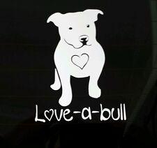 I Love My Pitbull Dog iPad Vinyl  Car Window Decal Sticker  Love-a-bull Pit Bull