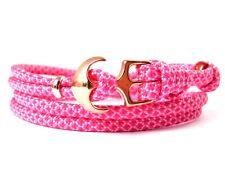 Ancla armband-paracord-verstellbar-wickelarmband-rose Rosa & Fucsia diamantes