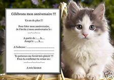 5 ou 12 cartes invitation anniversaire REF 984