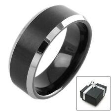 Tungsten Black Stripe Comfort Fit Wedding Band Ring Size 5-13 Men's or Women's