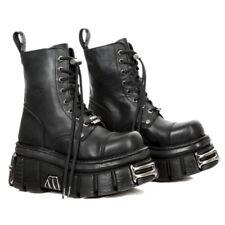 New Rock M- New Mili 083-S37 Black Gothic Boots Military Unisex Biker Shoes