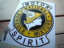 """National Benzoli miscela 10 """"Adesivo MOTORE spirito pompe di benzina gas combustibile classico"""