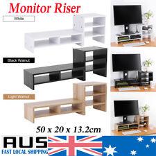 Computer Stand Storage Monitor Riser Laptop Stand Desktop Organizer+3Layer Shelf