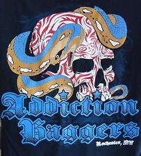 Addiction Baggers Men's Navy Skull and Snake Tee!