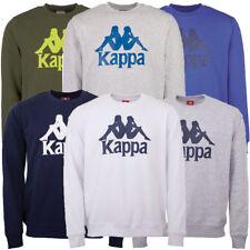 Kappa Herren Sweatshirt, Rundhals, regular fit, großes Kappa Logo vorn, Bündchen