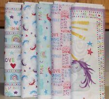 Unicorn Sparkle Magic Shine Panel & Coordinating Fabric SOLD SEPARATEly