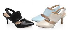 sandali estivi donna tacco spillo 7.5 cm rosa azzurro bianco 8858