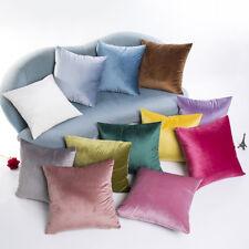Weicher Kissenbezug Samt Optik farbige Kissenhülle 43x43cm Reißverschluss soft