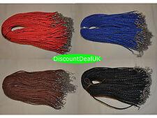 1, 5 o 10 Ajustable De Imitación De Cuero Trenzado Con Collar De Cordones 3mm/18-Pulseras