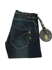 DONDUP jeans uomo mod GUN scuro con rotture 98%cotone 2% elastan MADE IN ITALY