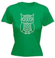 Owl Design WOMENS T-SHIRT Cute Animal Bird Tee Top Funny Present birthday gift