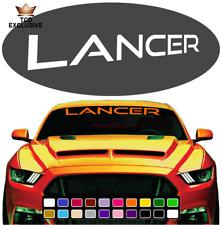 Lancer Cool Fun Windshield Window Vinyl Car Decals JDM