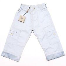 0536H pantaloni bimbo azzurri BURBERRY cotone pantalone trousers pants kids