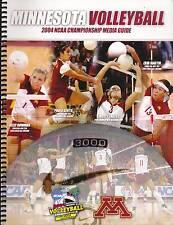 2004 Minnesota Golden Gophers Womens Ncaa Championship Voleyball Guidee