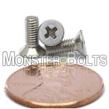 M3 x 8mm Stainless Steel Phillips Flat Head Machine Screws, Countersunk DIN 965