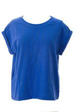 SURFACE TO AIR Women's Royal Blue Pinstripe Bravo Shirt $130 NEW