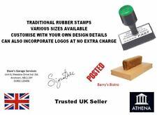 ADRESSE RUBBER STAMP personnalises/sur mesure, entreprise, école, GARAGE, magasin etc.