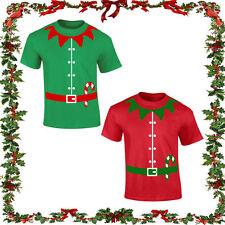Duende De Navidad Camiseta festivo Broma Regalo Comedia Santa Top Puente Xmas Elf Unisex.