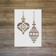 Christmas Tree Ornaments - Christmas / Winter Reusable Plastic Stencil
