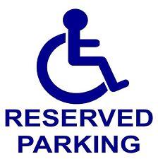 1 x disabili riservati parcheggio sticker-disability-mobility sign-handicapped