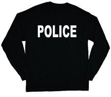 long sleeve t-shirt for men police design costume uniform officer man tee shirt