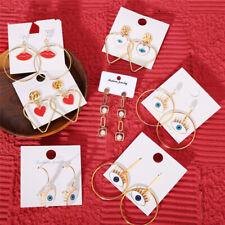 Charm Asymmetric Lip Evil Eye Drop Earrings For Lady Women Party Ear Jewelry