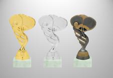 Padel Tennis Pokal Figur Höhe 15cm drei Farben mit Sockelpersonalisierung