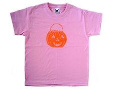 Jack o Lantern Halloween Pink Kids T-Shirt