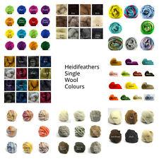Heidifeathers® Felting Wool - Single Colours - 25g - 250g  Felting, Dredlocks