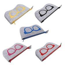 Fashion Storage Felt Box Sunglasses Case Eye Glasses Bag Zipper Pouch JJ