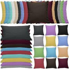 Qool24 Flanell Kissenbezug Kissenhüllen viele Farben & Größen Baumwolle Bezug