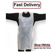 Disposable Plastic Aprons Polythene Aprons Eco  White Blue Colors Flat Pack  100