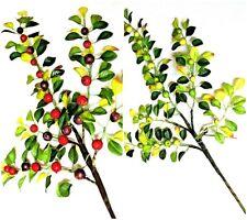 Beerenzweig 53 cm Kunstblumen Kunstzweig mit künstlichen Beeren Pflanzen GF60