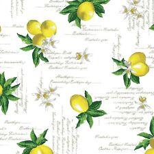 Mantel Hule Por Metro limones c144041 Cuadrado Redondo Ovalado Lavable