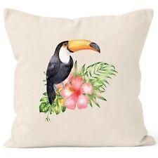 Kissenbezug Tucan Tropical Summer Jungle Paradise Hummingbird Kissen-Hülle