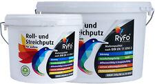 RyFo Colors Roll- und Streichputz für außen - weiß, feine Struktur, für Fassaden