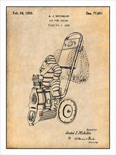 1929 Michelin Man Air Compressor Patent Print Art Drawing Poster 18 X 24