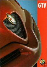 ALFA ROMEO GTV6 2.0 TWIN SPARK 1995-1998 mercato britannico FOLDOUT BROCHURE DI VENDITA